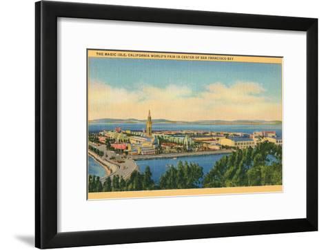 San Francisco World's Fair, Magic Isle--Framed Art Print