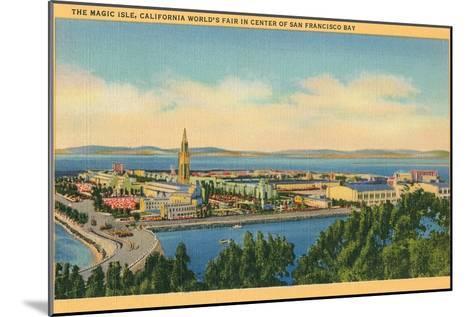 San Francisco World's Fair, Magic Isle--Mounted Art Print
