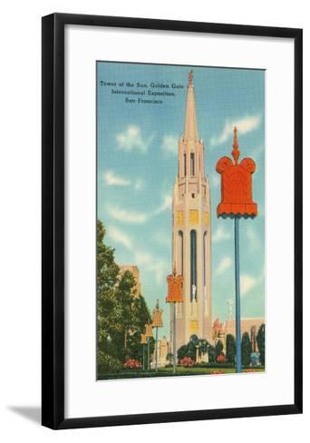 San Francisco World's Fair, Tower of the Sun--Framed Art Print