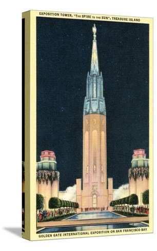 Exposition Tower, San Francisco World's Fair--Stretched Canvas Print