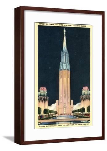 Exposition Tower, San Francisco World's Fair--Framed Art Print
