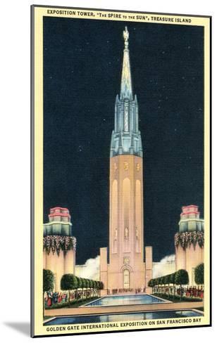 Exposition Tower, San Francisco World's Fair--Mounted Art Print