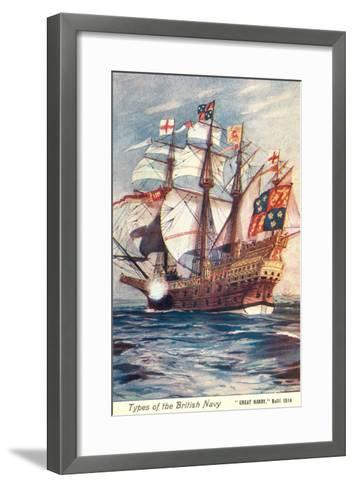 Great Harry, British Galleon, 1514--Framed Art Print