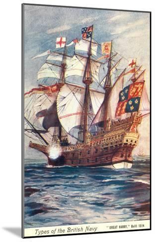 Great Harry, British Galleon, 1514--Mounted Art Print