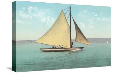 Gaff-Rigged Sailboat--Stretched Canvas Print