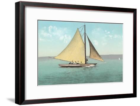 Gaff-Rigged Sailboat--Framed Art Print