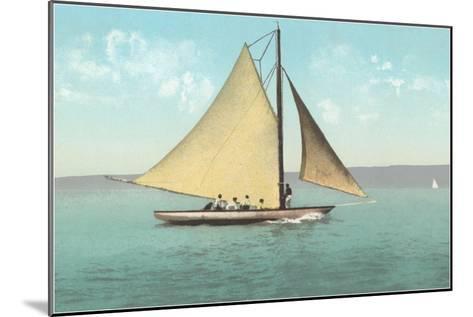 Gaff-Rigged Sailboat--Mounted Art Print
