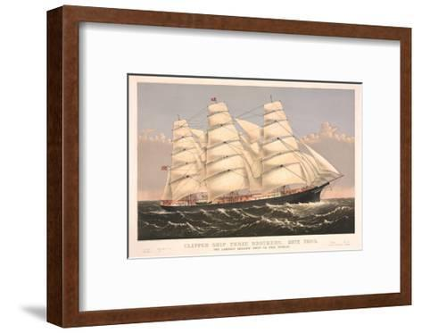 Clipper Ship Three Brothers, 2972 Tons, Largest Sailing Ship in the World--Framed Art Print