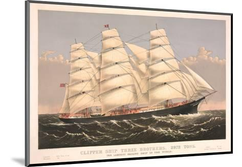 Clipper Ship Three Brothers, 2972 Tons, Largest Sailing Ship in the World--Mounted Art Print