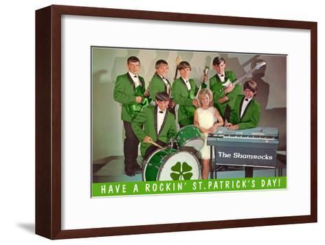 Have a Rockin St. Patricks Day, School Rock Band--Framed Art Print