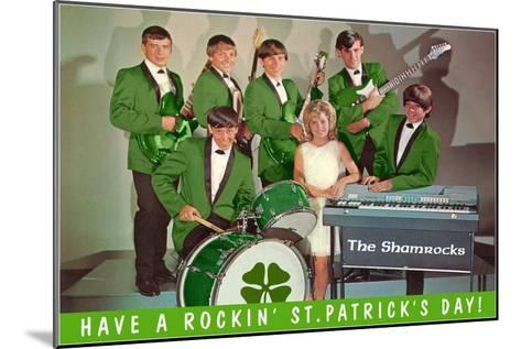 Have a Rockin St. Patricks Day, School Rock Band--Mounted Art Print