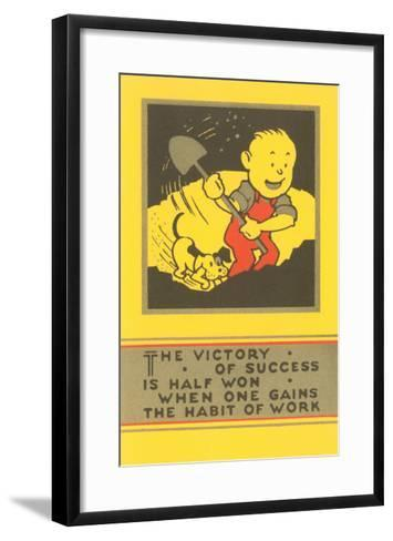 The Victory of Success, Work--Framed Art Print