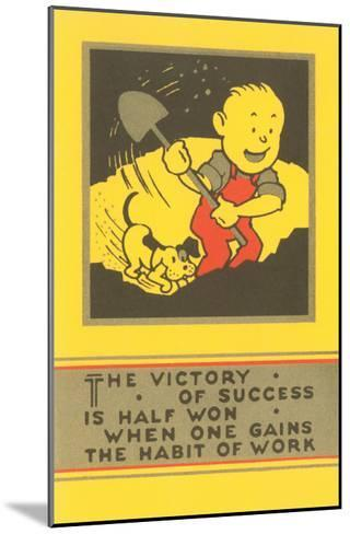 The Victory of Success, Work--Mounted Art Print
