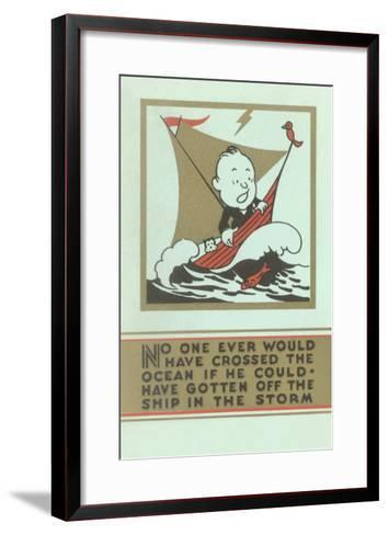 Stay the Course--Framed Art Print