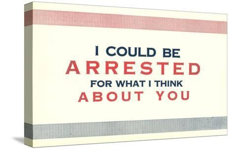 I Could be Arrested--Stretched Canvas Print