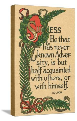Success, Colton Quote--Stretched Canvas Print