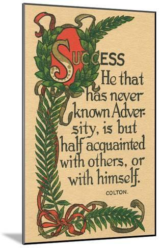 Success, Colton Quote--Mounted Art Print