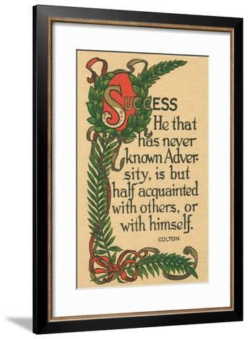 Success, Colton Quote--Framed Art Print