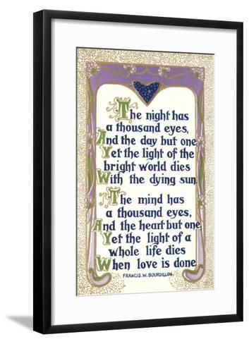 Bourdillon Quotation--Framed Art Print