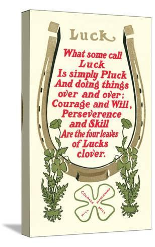Discourse on Luck--Stretched Canvas Print