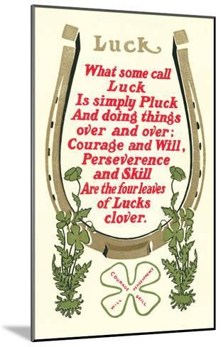 Discourse on Luck--Mounted Art Print