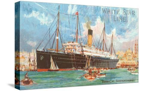 Ocean Liner White Star Line Arabic--Stretched Canvas Print