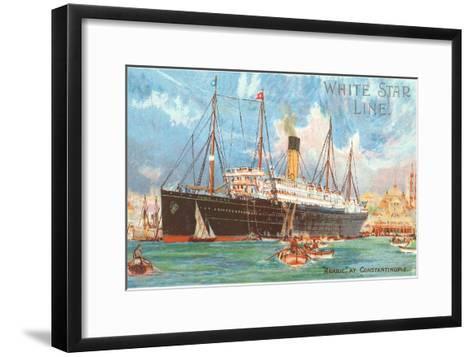 Ocean Liner White Star Line Arabic--Framed Art Print