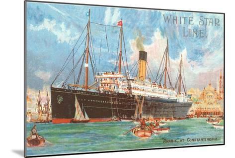 Ocean Liner White Star Line Arabic--Mounted Art Print