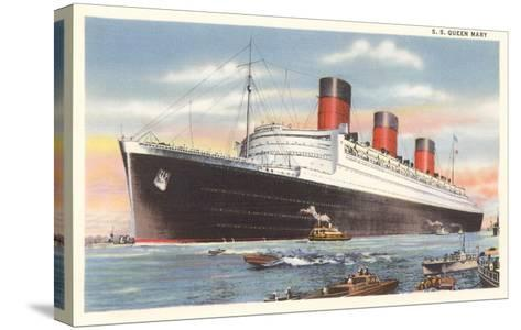 Ocean Liner SS Queen Mary--Stretched Canvas Print
