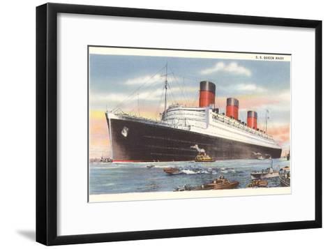 Ocean Liner SS Queen Mary--Framed Art Print