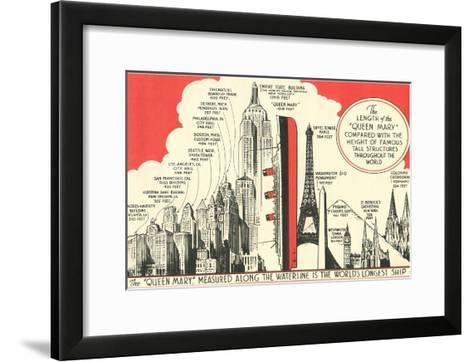 Queen Mary Length in Comparison--Framed Art Print