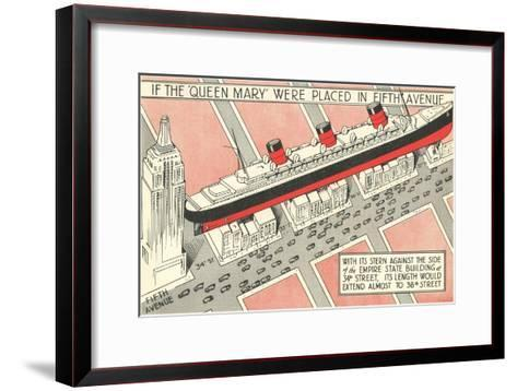 The Queen Mary on Fifth Avenue--Framed Art Print