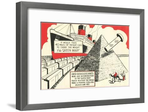 Rivets in the Queen Mary--Framed Art Print