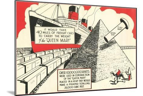 Rivets in the Queen Mary--Mounted Art Print