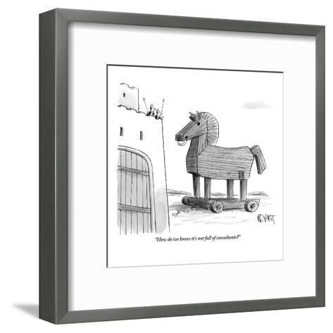 """""""How do we know it's not full of consultants?"""" - New Yorker Cartoon-Christopher Weyant-Framed Art Print"""