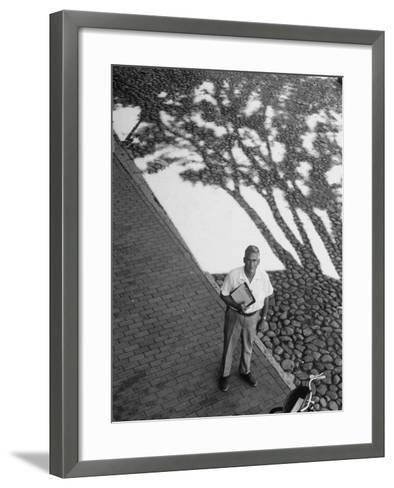 Investor Walter Beinecke Jr--Framed Art Print
