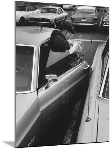 Buisness Man Pat Sappo Parking His Car for a One-Day Commute - New York to Washington DC and Back--Mounted Photographic Print