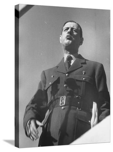 General Charles De Gaulle--Stretched Canvas Print