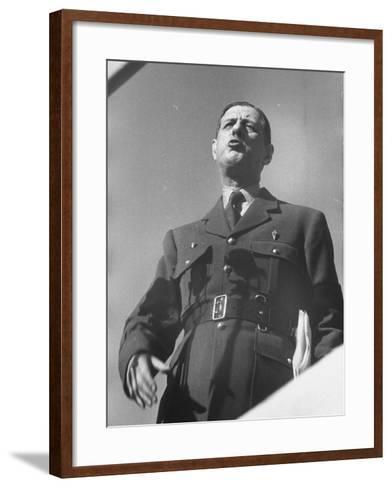 General Charles De Gaulle--Framed Art Print