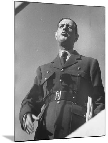 General Charles De Gaulle--Mounted Photographic Print