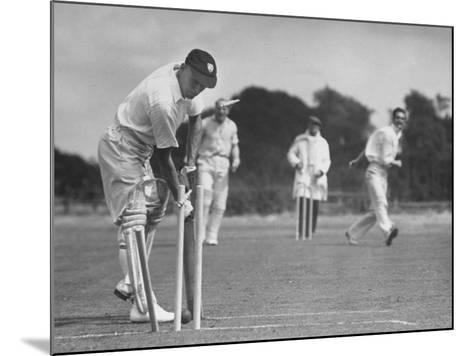 Men Setting Up Cricket Field--Mounted Photographic Print