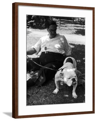 1938 Morris + Essex Dog Show. English Bulldog--Framed Art Print