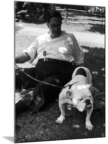1938 Morris + Essex Dog Show. English Bulldog--Mounted Photographic Print
