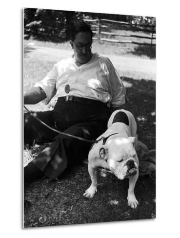 1938 Morris + Essex Dog Show. English Bulldog--Metal Print