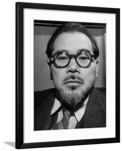 """Wataru Narahashi, """"The Abe Lincoln of Japan"""" Principal Author of the Country's New Constitution--Framed Art Print"""