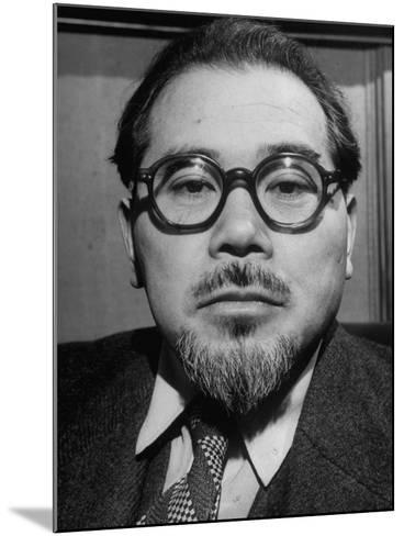 """Wataru Narahashi, """"The Abe Lincoln of Japan"""" Principal Author of the Country's New Constitution--Mounted Photographic Print"""