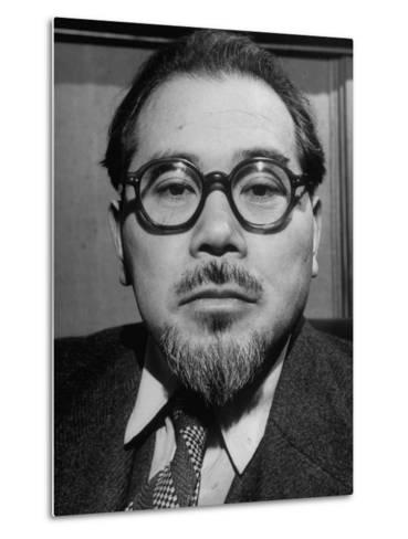"""Wataru Narahashi, """"The Abe Lincoln of Japan"""" Principal Author of the Country's New Constitution--Metal Print"""