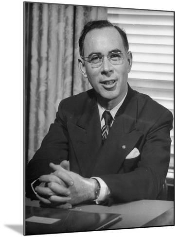 Bank of America Vice President Frank Dana, Supervisor of Branches--Mounted Photographic Print