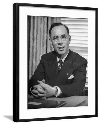 Bank of America Vice President Frank Dana, Supervisor of Branches--Framed Art Print