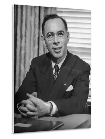Bank of America Vice President Frank Dana, Supervisor of Branches--Metal Print
